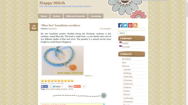 Радость рукоделия - сайт для любительниц вышивки